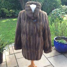 Lovely VINTAGE Kara Donna Fur Giacca Fit 14 16