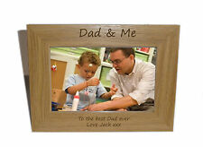 Daddy Wooden Photo Frame 8x6 - Personalise this frame - Free Engraving