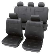 Luxury Leather Look Dark Grey Washable Seat Covers - VW  Golf Mk4 1998-2004