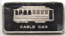 San Francisco Cable Car .999 Silver Art Bar 1 oz ingot Medal - Patrick AX930