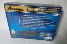 Acesonic VHF-1000 Wireless Professional Microphone System 3uV 120dB 15ppm NEW