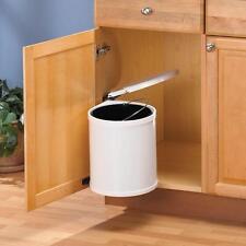 Kitchen Under Sink Cabinet Trash Waste Garbage Can Pull Out Storage Organizer