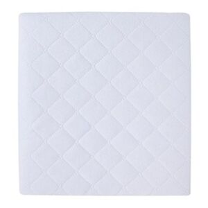 """Carter's 2 Piece Protector Pad, Solid White, One Size 18""""x27"""""""