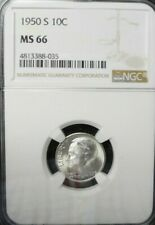 New listing 1950-S Roosevelt Dime Ngc Ms 66