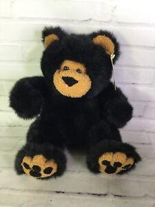 First & Main GRIZBO Grizzly Teddy Bear Plush Stuffed Animal Black Tan Brown