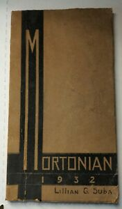 1932 J. Sterling Morton High School Yearbook THE MORTONIAN Cicero Illinois