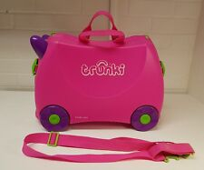 Trunki Ride On Pink Hand Luggage Pull Along Kids Suitcase
