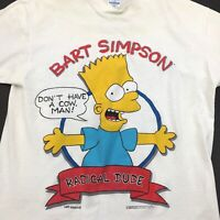 Vintage T-Shirt 1989 Bart Simpson Radical Dude, single stitch derelict