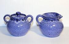 Vintage Cole Pottery Sugar and Creamer Set, Stoneware Pottery
