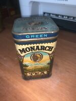 Antique MONARCH GREEN TEA 8oz Tin / Reid, Murdoch & Co. Chicago, IL