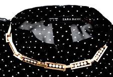 Zara Raro vestido de Perlas de Imitación Collar Collar Cadena de oro combinado Nuevo