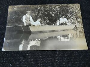 Social History Postcard Out in a Boat Tipton Dudley West Midlands - 45139
