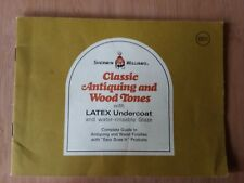1970 Sherwin Williams Manual Classic Antiquing Wood Tones Latex Undercoat Glaze
