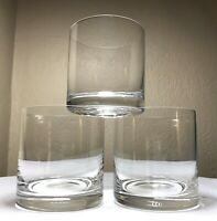 3 Vintage MIKASA Donovan Crystal Rocks Glasses Old Fashioned Cocktail Bar New