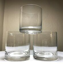 3 Vintage MIKASA Donovan Crystal Rocks Glasses Old Fashioned Cocktail Bar New