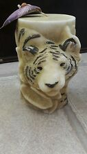 Large Decorative Tiger Candle 15cm tall, just under 1kg