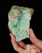 "4.2"" Showy Sky Blue Super Sparkling DRUZY CHRYSOCOLLA Lily Mine Peru for sale"