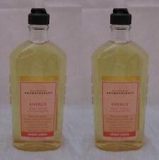 Lot of 2 Bath & Body Works Orange Ginger Aromatherapy Body Wash & Foam Bath NEW