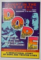 CANNABIS MARIHUANA MARIJUANA POSTCARD # 50 CAUGHT IN THE TOILS  EVIL DOPE D2