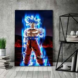 Goku Super Saiyan Poster Inspired By Dragon Ball Z, Ultra Instinct Goku Poster