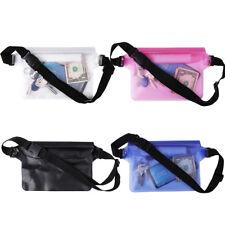 PVC Clear Waterproof Waist Pack Bum Belt Bag Travel Hip Pouch Fanny Phone Keys