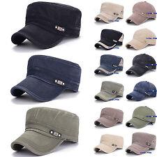 Men's Womens Army Snapback Polo Cap Baseball Strap Military Plain Adjustable Hat