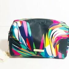 New Trina Turk Large Rectangle Cosmetic Makeup Bag Case Multicolor