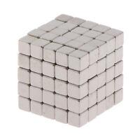 125Pcs 3mm Powerful Rare Earth Neodymium Square Magnets Block Cubes Ball F`t