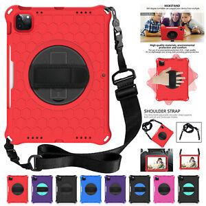 For iPad Pro 11 2021 9.7'' 5/6th Gen Mini Air 10.5 Kids Rubber Stand Strap Case