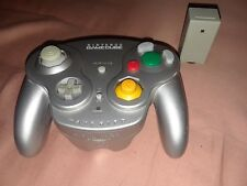 Original Nintendo Gamecube Silver Wavebird Wireless Controller & Receiver Tested