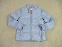 NEW 32 Degrees Jacket Womens Small Blue Puffer Cloud Fill Full Zip Coat Outdoor