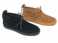 Ugg Australia woodlyn Moc Castaño Negro Mocasín Zapatos Gamuza Mujer 1094814