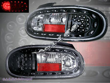 1999-2005 Mazda Miata MX-5 LED Tail Lights BLACK 00 01 02 03 04 05 NEW