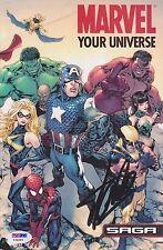 Stan Lee HAND Signed Marvel Your Universe Autograph Spiderman Hulk Wolverine PSA