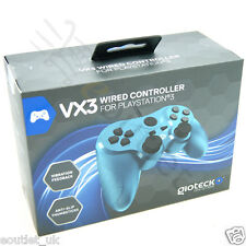 Gioteck VX-3 wired controller-bleu PS3 Playstation 3 brand new boxed