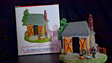 "Liberty Falls ""Gil Griswold Workshop""~Christmas Snow Western Village Figurine"