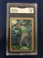 1987 Topps Mark McGwire #366 Rookie GMA Gem MT 10