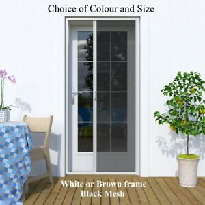 DIY Retractable Fly Screens for French Doors Aluminium Weather Proof Full Frame