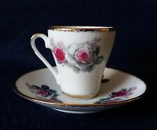Yong Sheng Porcelain Company Rose Demitasse Cup And Saucer