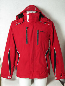 Mens NO FEAR Red Ski Jacket / Winter Coat Size Small Hooded Excellent Condition