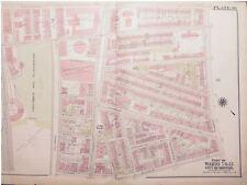 1904 BOSTON MASSACHUSETTS COLUMBUS AVENUE BASEBALL GROUNDS MAP ATLAS