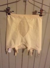 New w/o Tags! Vintage Young Smoothie small open bottom girdle w/ 6 garters