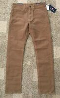 Tommy Hilfiger Mens Slim Fit Casual Pants Brown Size 38W X 32L 38 X 32 78B8135