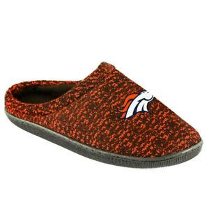 Denver Broncos Men's Poly Knit Cup Sole Slippers