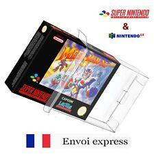 Protection transparente boite jeu SNES - boitier protector case box sleeve