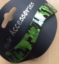 A Black And Green Wave Design Barrette Hair Clip