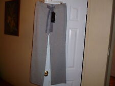 NWT $225 ESCADA SPORT Italy knit designer track pants in open grey size 40/10.