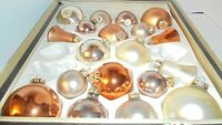 Browns, Tans Earth tone Glass VINTAGE German Christmas Ornaments ~19 Feinster