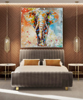 SFPAT708 100% hand paint abstract color elephant oil painting art on canvas