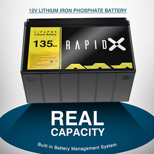 135AH 12V Lithium Iron Phosphate Battery LiFePO4 Replace AGM Battery 4WD RV